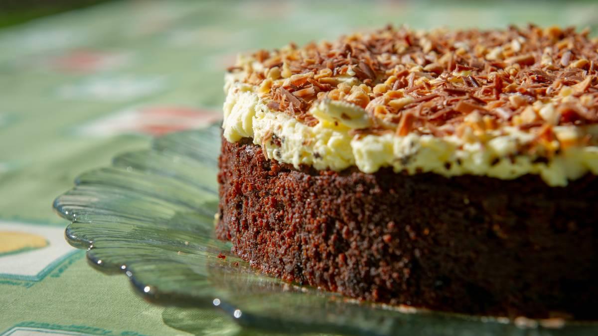 Shirley Bolton's beetroot and chocolate cake. Picture: Elesa Kurtz